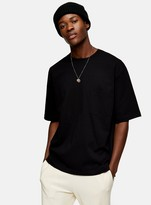 TopmanTopman CONSIDERED Black Boxy Pocket Organic Cotton T-Shirt