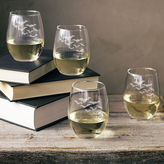 Cathy's Concepts CATHYS CONCEPTS Colony Of Bats Set Of 4 Stemless Wine Glasses