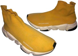 Balenciaga Speed Yellow Cloth Trainers