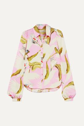 Temperley London Theodora Printed Silk-crepe Shirt