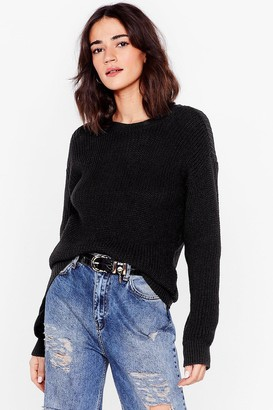 Nasty Gal Womens Knit's About Time Petite Oversized Jumper - Black - 4