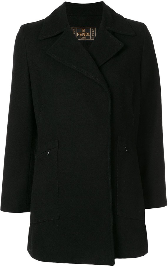 Thumbnail for your product : Fendi Pre-Owned Thumb Length Slim-Fit Coat
