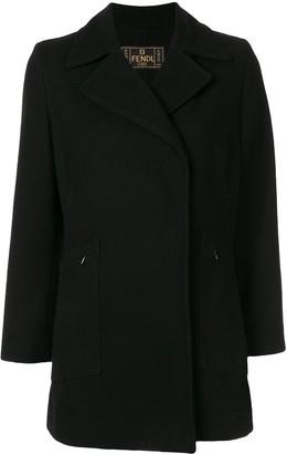 Fendi Pre Owned Thumb Length Slim-Fit Coat