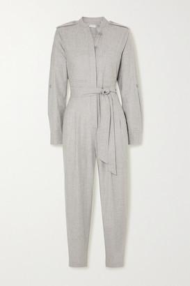 Equipment Leondrea Belted Woven Jumpsuit - Gray