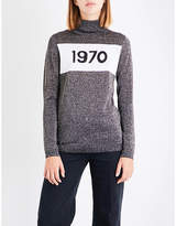 Bella Freud 1970 metallic knitted turtleneck jumper
