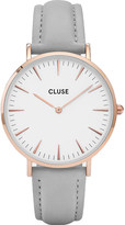 Cluse CL18015 La Bohà ̈me rose gold and leather watch