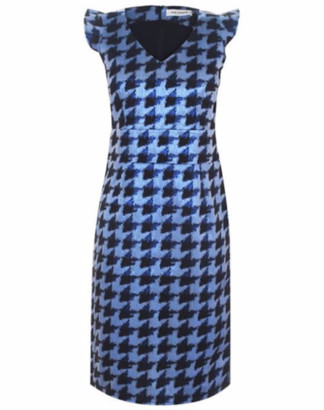 Sale - Sofie Schnoor Metallic Blue Check Dress - XS