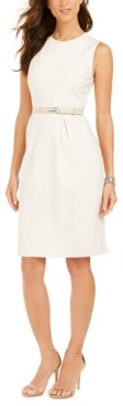 Elie Tahari Azra Belted Sheath Dress