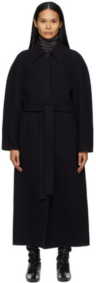 The Row Navy Wool Arlo Coat