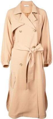 Tibi Trench-Style Midi Dress