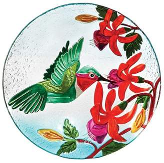 "Evergreen 2.50"" H Glass Birdbath"