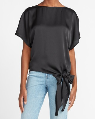Express Satin Side Tie Top