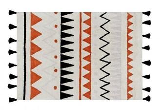 Lorena Canals Vintage Terracotta Aztec Rug - 120 cm x 160 cm - Red/Natural/Black