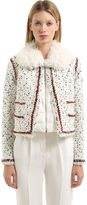 Moncler Gamme Rouge Nynke Wool Blend Tweed Jacket