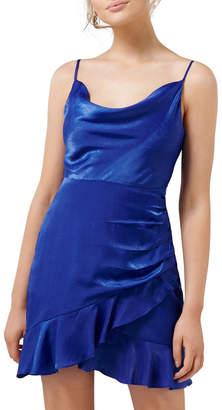 Forever New Petite Fifi Petite Cowl Neck Wrap Frill Mini Dress