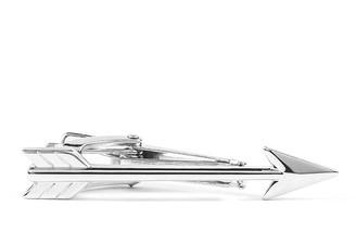 Arrow Silver Tie Bar