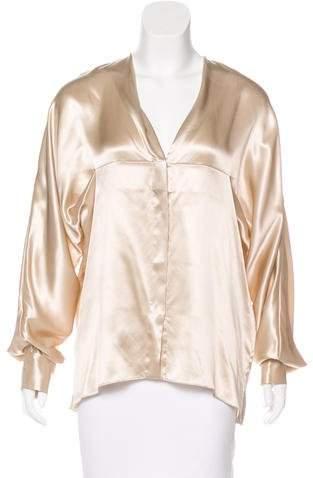 Alexandre Vauthier Silk Dolman Sleeve Blouse w/ Tags