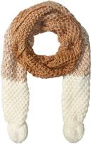 Rampage Women's Oblong Scarf with Pom