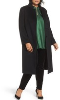 Fleurette Plus Size Women's Inverted Lapel Loro Piana Wool Coat