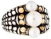 John Hardy Triple Pearl Dot Ring