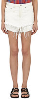 R 13 Women's Layered Cut-Off Jeans Shorts-White Size 31