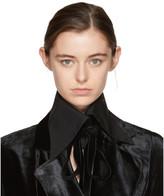 Ann Demeulemeester Black Byron Shirt Collar