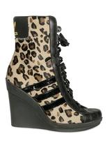 Jeremy Scott Adidas Originals By Originals - 90mm Leopard Sneaker Wedges