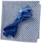Original Penguin Conrad Plaid Self-Tie Bow Tie & Pocket Square Set