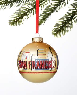 Holiday Lane San Francisco Gold Ball Ornament