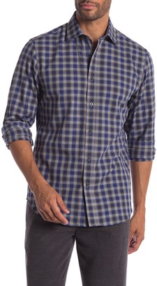 James Tattersall Plaid Long Sleeve Classic Fit Shirt