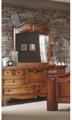 Minick Wood Products 6 Drawer Combo Dresser with Mirror