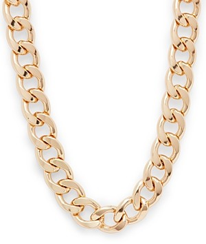 Aqua Thick Gold-Tone Chain Necklace, 19 - 100% Exclusive
