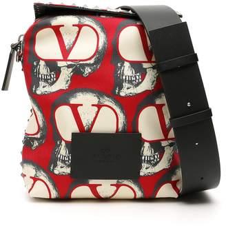 Valentino Garavani Undercover Skull Messenger Bag