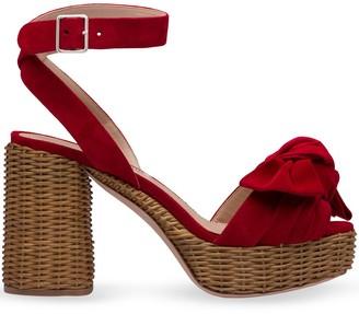 Miu Miu Bow Platform Sandals