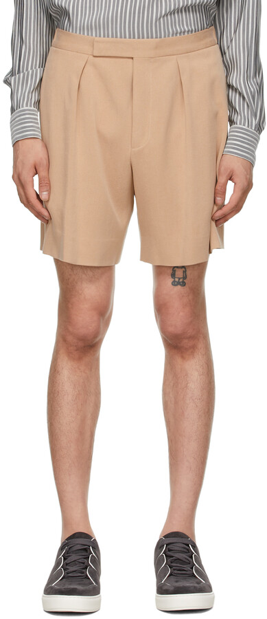 Thumbnail for your product : Ermenegildo Zegna Couture Pink One Pleat Shorts