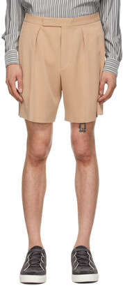Ermenegildo Zegna Couture Pink One Pleat Shorts