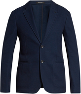 Giorgio Armani Notch-lapel single-breasted cotton blazer