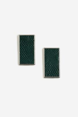 Topshop Faux Leather Stud Earrings