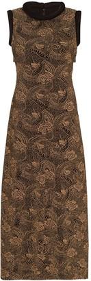 REJINA PYO Suki metallic print midi dress