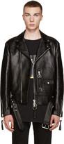 Off-White Black Leather New Pocket Jacket