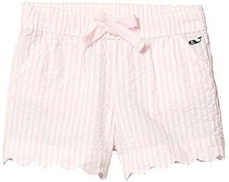 Vineyard Vines Kids Seersucker Scallop Shorts (Toddler/Little Kids/Big Kids) (Hibiscus) Boy's Shorts