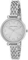 Laura Ashley Women's LA31006SS Analog Display Japanese Quartz Silver-Tone Watch