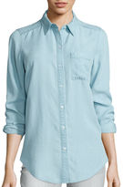 Liz Claiborne Long-Sleeve Light Denim Tunic