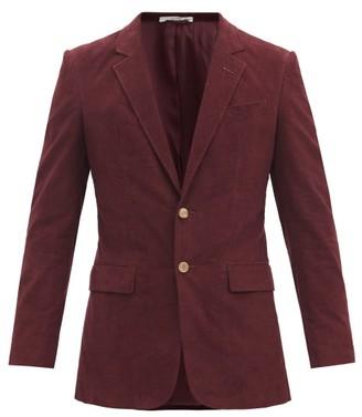 Gabriela Hearst Irving Single-breasted Cotton-corduroy Jacket - Burgundy