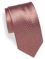 Brioni Twist Print Silk Tie