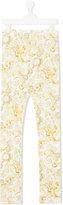 Versace Teen baroque print leggings