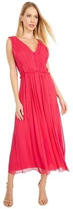Jason Wu Ruffle Insert Dress (Watermelon) Women's Clothing