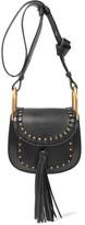 Chloé Hudson Mini Studded Textured-leather Shoulder Bag - Black