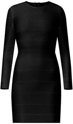 Herve Leger Icon Long Sleeve Dress