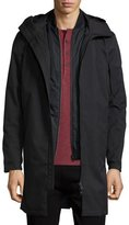 Theory Hallsey All-Weather Long Coat, Black